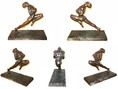 1930 Czech Art Deco bronze athlete sculpture